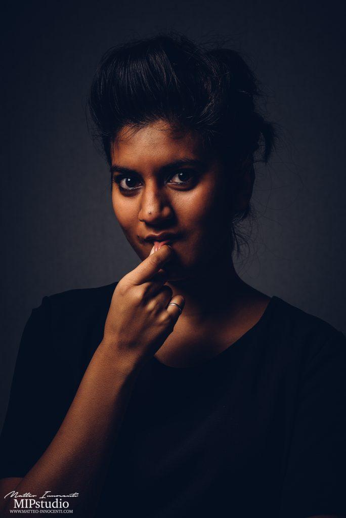 model portrait indian girl