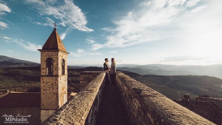 nipozzano castle engagement couple shot tuscany italy photographer destination wedding